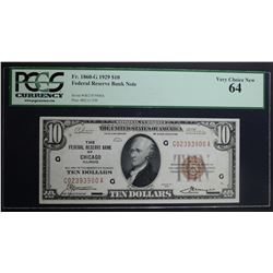 1929 $10 FEDERAL RESERVE BANK NOTE FR.1860-G