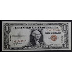 1935 A $1 SILVER CERTIFICATE HAWAII WWII