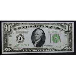 1928 B $10 FEDERAL RESERVE NOTE  CH.CU