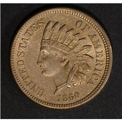 1860 INDIAN HEAD CENT  VERY CH.BU