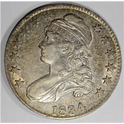 1834 CAPPED BUST HALF DOLLAR  CH.AU+