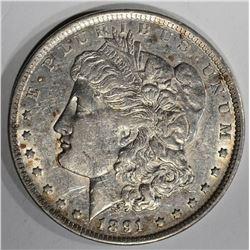 1891 CC MORGAN DOLLAR  CH.AU