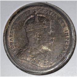 1906 SILVER 25 CENTS CANADA