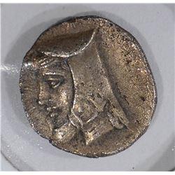 211-185 BC SILVER HEMI-OBOL PARTHIA ARTABANOS