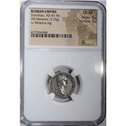 81-96 AD SILVER DENARIUS EMPEROR DOMITIAN