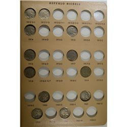 35-DIFFERENT BUFFALO NICKELS IN DANSCO ALBUM