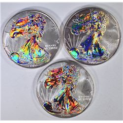 3-2006 AMERICAN SILVER EAGLES WITH HOLOGRAM