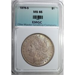 1878-S MORGAN DOLLAR EMGC GEM BU