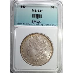 1880 MORGAN DOLLAR EMGC CH/GEM BU