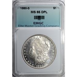1880-S MORGAN DOLLAR EMGC GEM