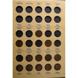 64 diff LINCOLN CENTS 1909-1940 ALBUM