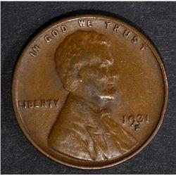 1931-S LINCOLN CENT AU/BU