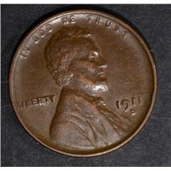 1911-D LINCOLN CENT XF