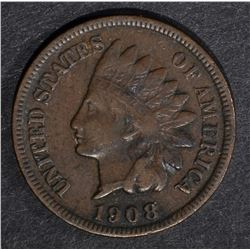 1908-S INDIAN CENT VERY FINE