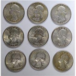 1934 WASHINGTON QTR LOT: 7-AU's &