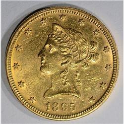 1895 $10.00 GOLD LIBERTY, BU