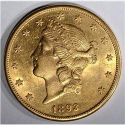 1893-S $20.00 GOLD LIBERTY, BU