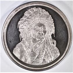 5-OUNCE .999 SILVER ROUND INDIAN CHIEF