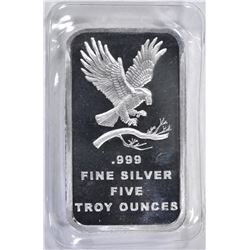 FIVE OUNCE .999 SILVER BAR ( SILVER TOWNE )