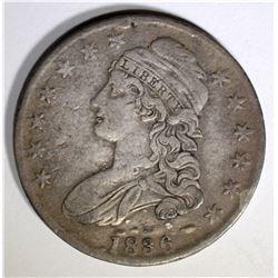 1836 BUST HALF DOLLAR, F/VF