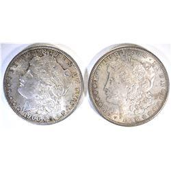 1896 & 1900-O CH BU ORIGINAL MORGAN DOLLARS TONING