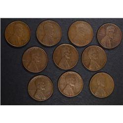 10-1926-S LINCOLN CENTS, GOOD-FINE