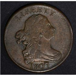 1807 DRAPED BUST HALF CENT  VF