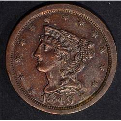 1849 HALF CENT  AU