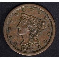 1854 HALF CENT  XF