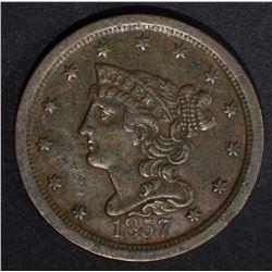 1857 HALF CENT  XF