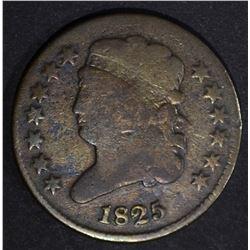 1825 CLASSIC HEAD HALF CENT  VG