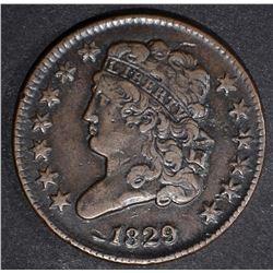 1829 CLASSIC HEAD HALF CENT  VF/XF