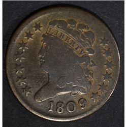 1809/6 OVERDATE CLASSIC HEAD HALF CENT