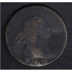 1806 DRAPED BUST HALF CENT LARGE 6 STEMS