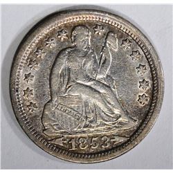 1853 ARROWS SEATED LIBERTY DIME  XF-AU