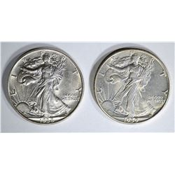 1938 & 1939 WALKING LIBERTY HALF DOLLARS
