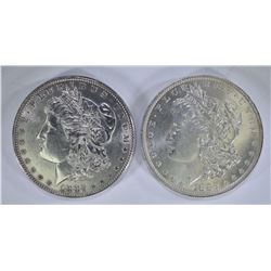 1882-O GEM BU & 1882 CH BU MORGAN DOLLARS