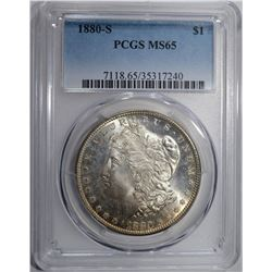 1880-S MORGAN DOLLAR PCGS MS65