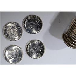 1967 BU KENNEDY HALF DOLLAR ROLL