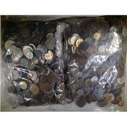 OVER 24 POUNDS WELL MIXED FOREIGN COINS