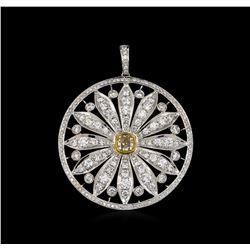 4.59 ctw Diamond Pendant - 18KT White Gold