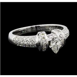 0.65 ctw Diamond Ring - 18KT White Gold