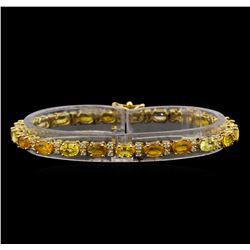 14KT Yellow Gold 13.23 ctw Yellow Sapphire and Diamond Bracelet
