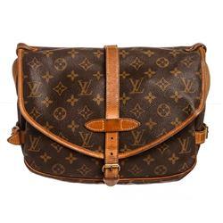 Louis Vuitton Monogram Canvas Leather Saumur 28 cm Messenger Bag
