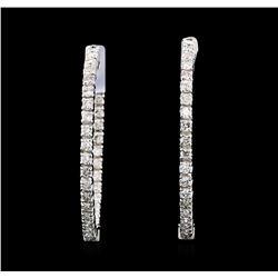2.00 ctw Diamond Earrings - 14KT White Gold