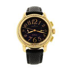 Zenith 18KT Rose Gold Diamond El Primero Watch