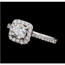 1.11 ctw Diamond Ring - 18KT White Gold