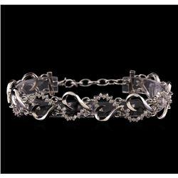 1.42 ctw Diamond Bracelet - 14KT White Gold