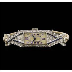 Vintage Platinum 1.02 ctw Diamond Ladies Watch