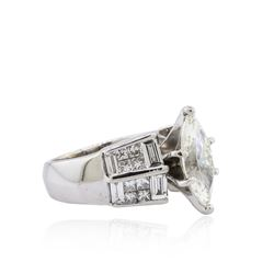 14KT White Gold 3.57 ctw Diamond Ring